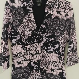 INC Blouse. Lacy Pink and Black. Size M.